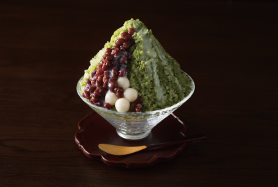 Shaved Ice Green Tea